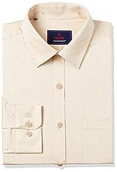 Raymond Mens Formal Shirt (8907576966889_RMSZ07044-F1_44_Light Fawn)