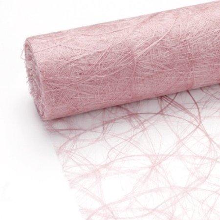 25 m x 30 cm Sizoweb® Vlies Original Tischband Tischläufer hellrosa rosa für Hochzeit, Verlobung, Kommunion, Taufe...