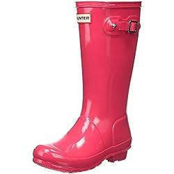 Hunter Gloss Wellington Boots, Botas de Agua para Niñas, Rosa (Pink Rbp), 32 EU
