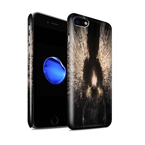 Offiziell Chris Cold Hülle / Glanz Snap-On Case für Apple iPhone 8 / Getarnte Teufel Muster / Dunkle Kunst Dämon Kollektion Zeriel das Licht