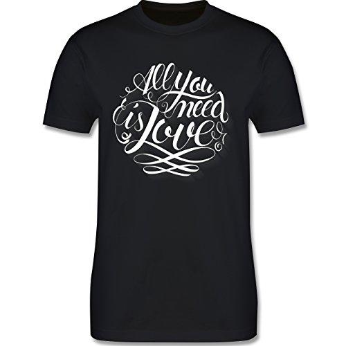Statement Shirts - All you need is love Lettering - Herren Premium T-Shirt Schwarz