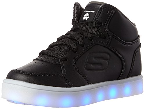 Skechers Boys Energy Lights Trainers, Black (Black), 5 UK 38 EU