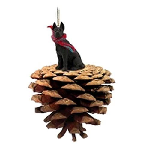 Great Dane Black Pinecone Pet Ornament