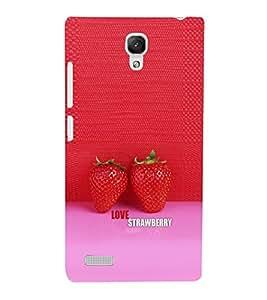 EPICCASE Love Strawberry Mobile Back Case Cover For Xiaomi Redmi Note (Designer Case)