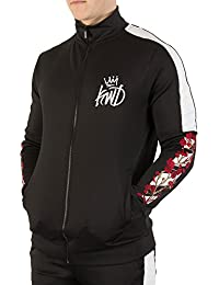 Kings Will Dream Hombre Montross Chevron Floral Track Top, Negro