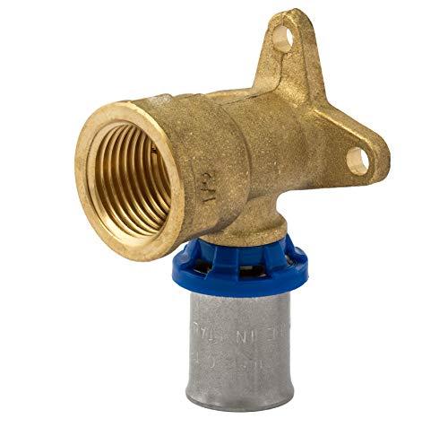 Press-Wandwinkel  <strong>Betriebstemperatur</strong>   Heizkörperinstallation bis 110 °C, Sanitärinstallation bis 95 °C