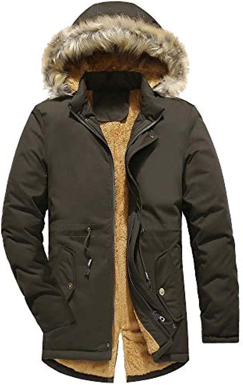 HUIFEI Cappotto Lungo in Cotone da Uomo Giacca Cappello Invernale in Caldo  Nuovo Cappello Giacca in df3b2e8261e