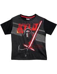 Star Wars Kollektion 2017 T-Shirt 104 110 116 122 128 134 140 146 Jungen Neu Kylo Ren Schwarz