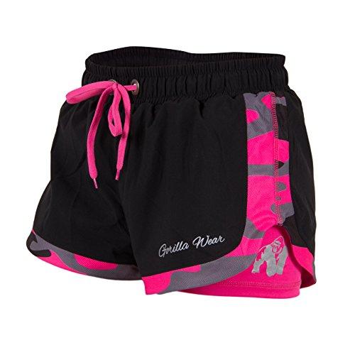 Gorilla Wear Women's Denver Shorts Black/Pink, Schwarz / Pink, S