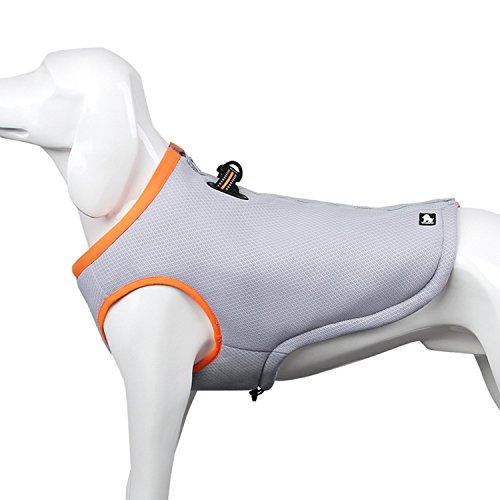 Cooler Cooling Weste für Hunde 3M Reflektierende Bequeme Warm Haustier Weste Jacke Gesteppte Waxed Cotton (S-Chest Size:17.5-20in, Orange)