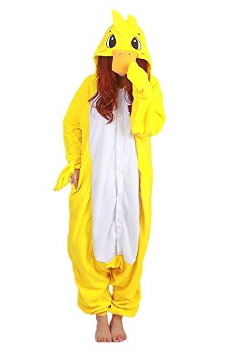wotogold Tier Gelb Ente Pyjamas Unisex Erwachsene Cosplay Kostüme Yellow