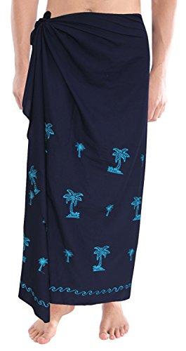 La-Leela-del-rbol-de-palma-hombres-pareo-rayn-bordado-pareo-pareo-azul-78x39