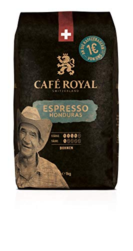 Café Royal Honduras Espresso Bohnenkaffee, Intensität 4/5, 1er Pack (1 x 1 kg)