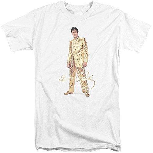 Elvis - Männer Gold Lame Anzug Tall T-Shirt, XX-Large, ()
