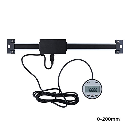Elec tech Digital Linear Readout Skala Lineal Vertikale Größe Optional 0,01 mm Magnetic Remote External Display Herrscher Werkzeugmaschinen (B)