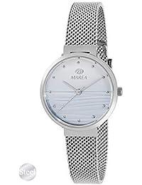 3d314d3aa1cc Reloj de Acero Marea Analógico Mujer B54163 2 con Malla Milanesa y Esfera  Azul Claro