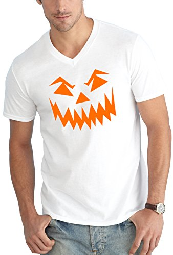 Certified Freak Halloween Face V-Neck White M
