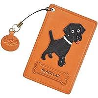 Black Labrador Retriever Dog-Pass, carta d'identità, in pelle, con porta carte di credito/tessere, VANCA Custodia **, fatto a mano, Made in