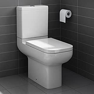 Short Projection Close Coupled Bathroom Toilet Dual Flush Compact Cloakroom WC