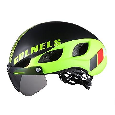 Lei HuanLeBao Fahrradhelm Professionelle hochwertige Sonnenschutzcreme mit Goggles Reithelm , l