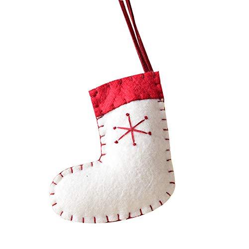 Calcetín de tela para decorar en navidad