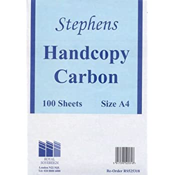 Stephens 100 Sheets Hand Copy Carbon with Hanging Bags Pack of 10 Blue