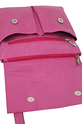 AMBRA  NL605, Borsa Messenger  Uomo rosso Rot m Pink