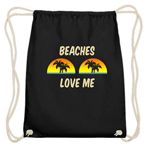 Beaches Love Me - Palmen Sonnenuntergang - Baumwoll Gymsac