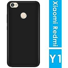 Noise Redmi Y1 (Redmi Note 5A Prime) Soft Interior Silicone Bumper & Hard Shell Solid Pc Back Shock-Absorption Slim Cover [Black]