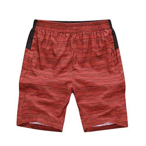 Malloom- Bekleidung Herren Sommer Mode Druck beiläufige lose Tasche Sport Strand Shorts Hosen Summer Printed Beach Pants Shorts Grau Blau Rot L XL 2XL 3XL 4XL 5XL