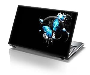"""15,6"""" Autocollants pour ordinateur portable papillon bleu"""
