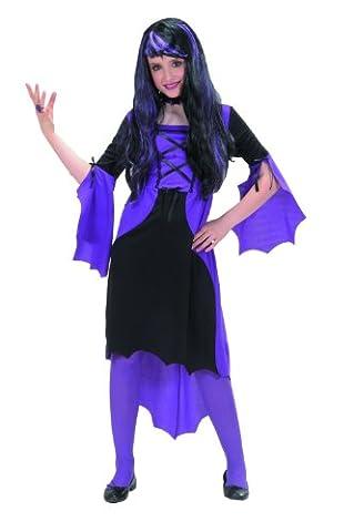 Widmann 58506 - Kinderkostüm Vampir-Girl, Kleid und Kragen, Gröߟe 128 (Karnevals-kostüm-ideen Für Mädchen)