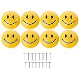 YoungerY Clip de Fixation du Support de Courtepointe en Forme de cœur en Forme de Boucle en Forme de cœur Smiley - (8 Pointes + 8 Clous Courts + 8 Bouchons de Smiley)