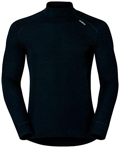 Odlo Shirt Long Sleeve Turtle Neck Warm Funktionsunterwäsche - Unterhemden - Bekleidung Herren, Black, XL - L/s Western Shirt