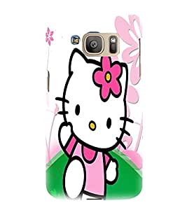printtech Kitty Cat Cute Back Case Cover for Samsung Galaxy S7 edge / Samsung Galaxy S7 edge Duos with dual-SIM card slots