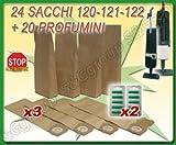 24 Sacchi-filtro e 20 Profumini per Aspirapolvere Folletto VK120, VK121, VK122