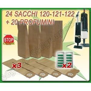 24 Sacchi-filtro e 20 Profumini per Aspirapolvere Folletto VK120, VK121, VK122 10 spesavip