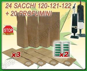 24 Sacchi-filtro e 20 Profumini per Aspirapolvere Folletto VK120, VK121, VK122 1 spesavip