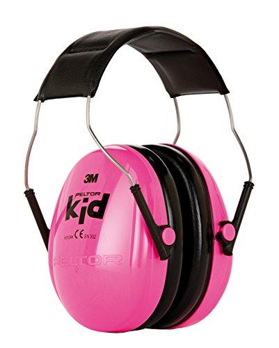 3M H510AKPC Peltor Kid - Cuffia anti-rumore molto leggera, per livelli di rumore fino a 98dB, colore: Rosa fluorescente, taglia da bambino, dai 2 anni in su