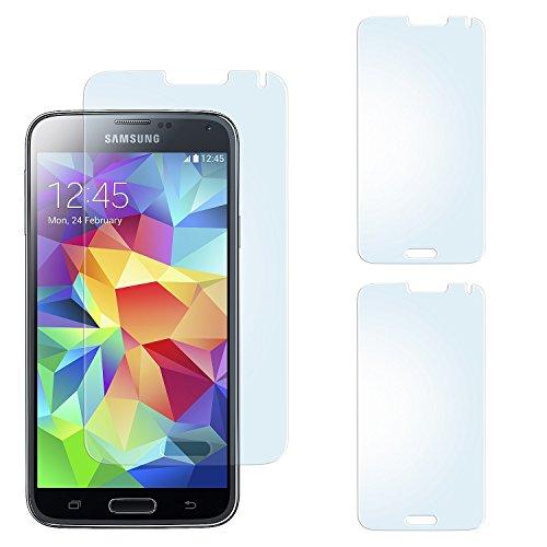 2x Samsung Galaxy S5 Schutzfolie Matt Display Schutz [Anti-Reflex] Screen protector Fingerprint Handy-Folie matte Displayschutz-Folie für Samsung Galaxy S5 / S5 Neo Displayfolie