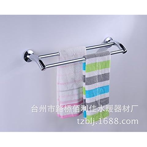 Queen's Acciaio inossidabile 2 Leva doppia barra di asciugamano doppio rack staffe di aggancio in acciaio inossidabile staffa per montaggio a parete,montato a parete il portasciugamani,Accessori bagno