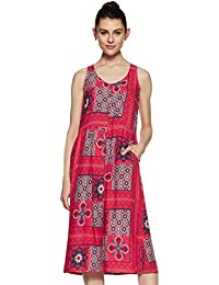 global desi Synthetic a-line Dress