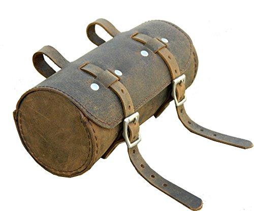 Herte Herren Tasche aus echtem Leder SCHWINN Fahrrad Satteltasche rund Utility Tool Bag