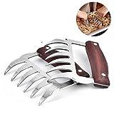 Jinyang Gadget 2 PZ Orso a forma di artiglio in acciaio inox Barbecue Forchetta Pollo a brandelli in legno Maniglia anti-skid Cucina creativa Forchetta Artiglio a base di carne Artiglio Splitter con (