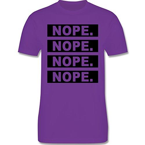 Statement Shirts - Nope. - Herren Premium T-Shirt Lila