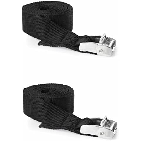 Heavy Duty 25mm x 5m Cam Tie Down Straps (Per Pair) by H2o Kayaks