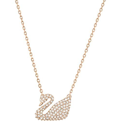 Swarovski Collana Swan Bianco Placcato Oro Rosa