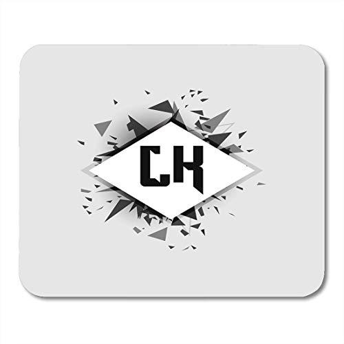 Crescent White Matte (Deglogse Gaming-Mauspad-Matte, Silver Creative Black Alphabet Lk Gray Angle White Crescent Mouse Pad)