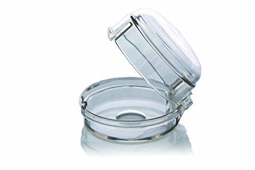 Design61 Schutz für Ofen-Bedienungsknöpfe Herdknöpfe Schutz Herdschutzknopf Herdsicherung 2er Set in Transparent
