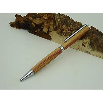 Schreibgerät-Unikat-Kugelschreiber Rosenholz Holz handgedrechselt Edelholz